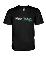 Awesome Postal Worker Shirt V-Neck T-Shirt thumbnail
