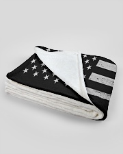 """Mechanic USA Flag Large Fleece Blanket - 60"""" x 80"""" aos-coral-fleece-blanket-60x80-lifestyle-front-09B"""