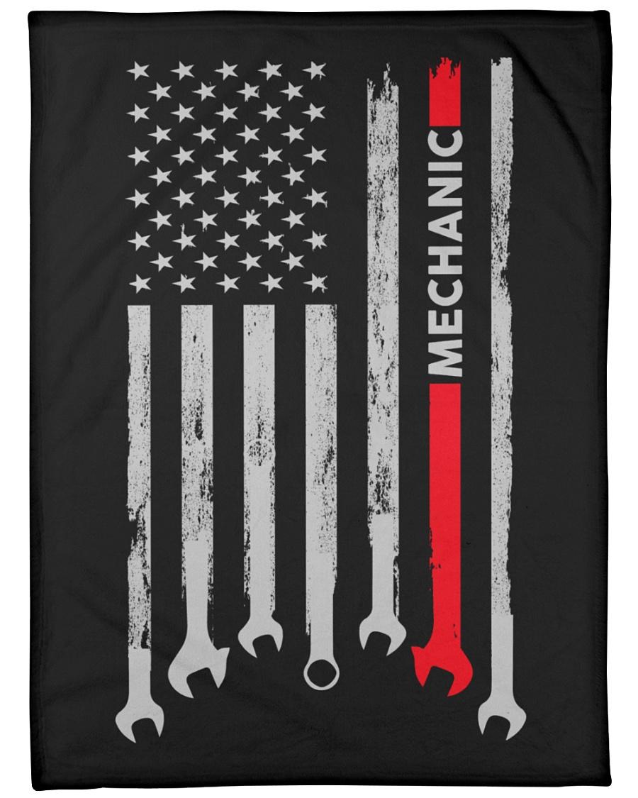 """Mechanic USA Flag Large Fleece Blanket - 60"""" x 80"""""""