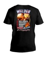 Welder- Hustle all day everyday  V-Neck T-Shirt thumbnail