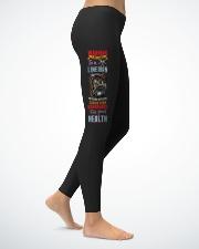 Sarcastic Lineman's Lady Ladies Leggings lifestyle-leggings-right-1