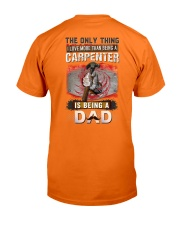 Proud of Being a Carpenter Dad Hoodie Classic T-Shirt back