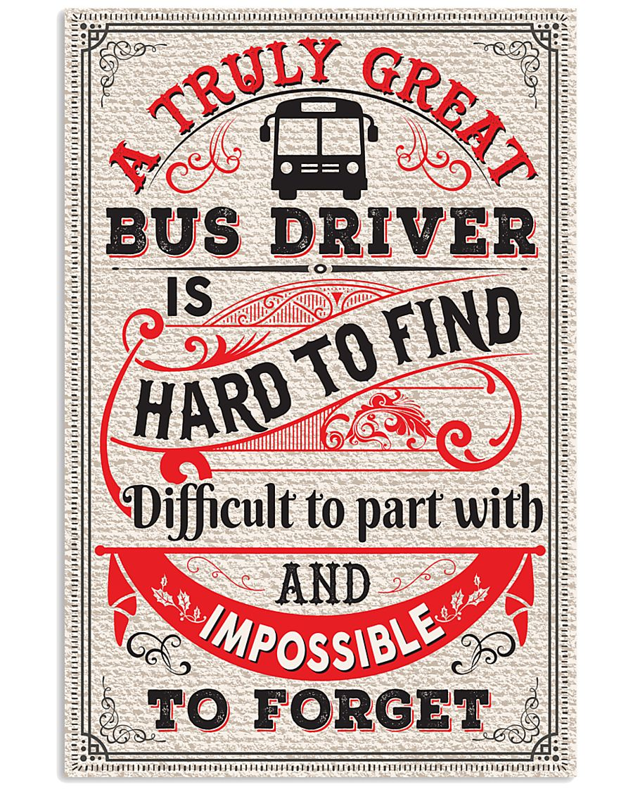 Proud Bus Driver 11x17 Poster