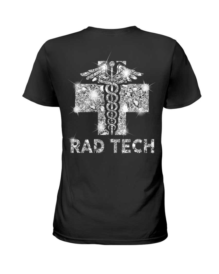 Proud Rad Tech Crystal Effect Ladies T-Shirt