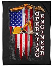 "Operating Engineer USA Flag Large Fleece Blanket - 60"" x 80"" front"