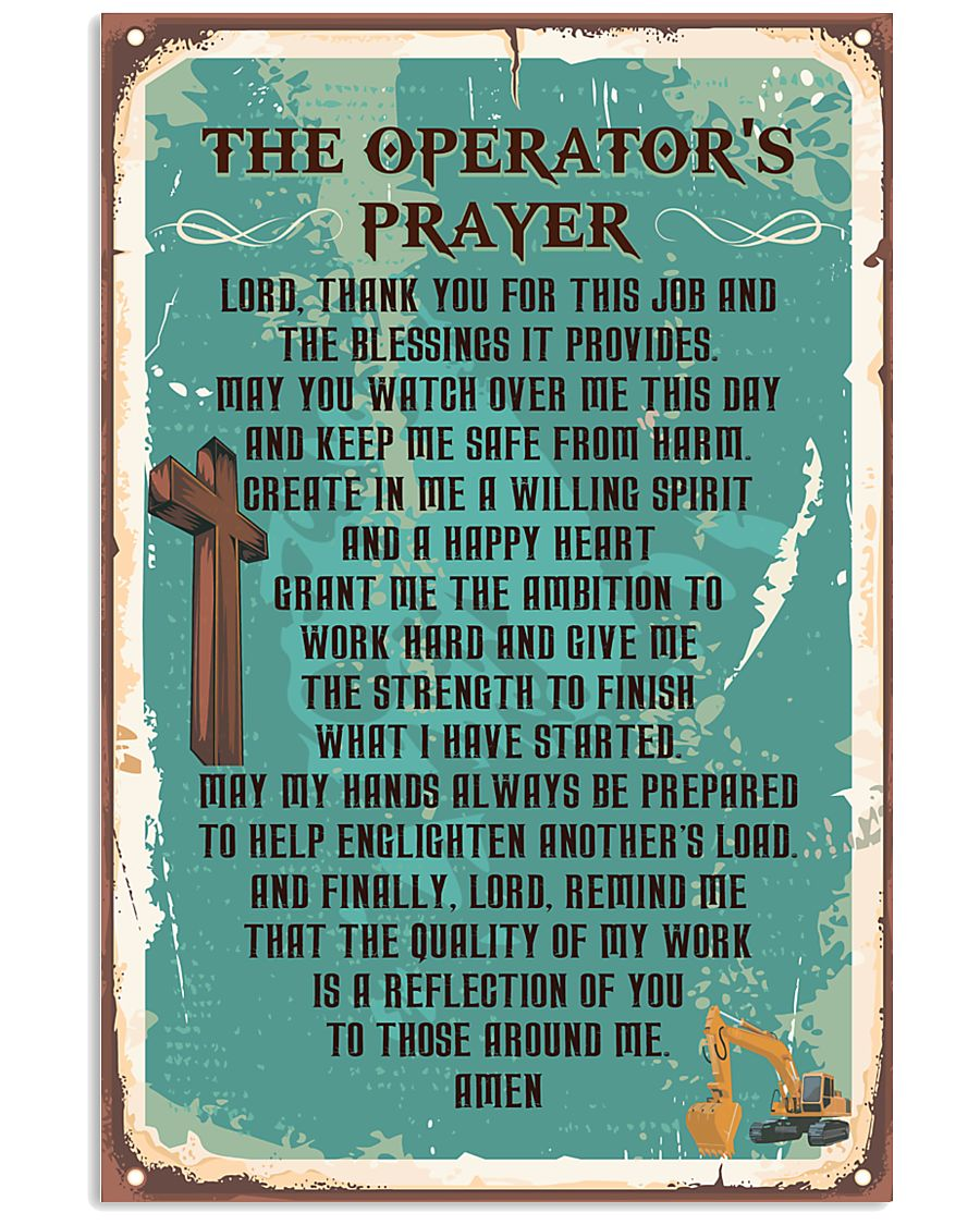 Proud Operator's Canvas and Posters 11x17 Poster