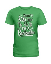 Don't Kiss Me Tip Me I'M A Bartender Ladies T-Shirt thumbnail
