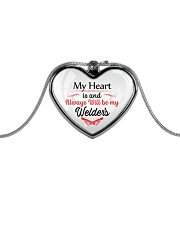 Cute Welder's Lady Metallic Heart Necklace front