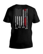 American Flag Trucker V-Neck T-Shirt thumbnail