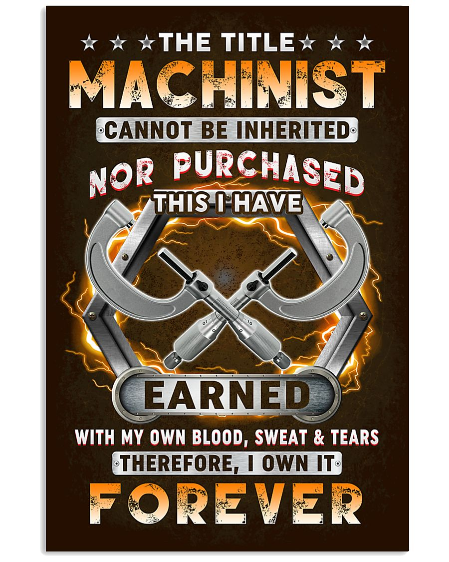 The Title Machinist Own it Forever 11x17 Poster