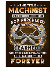 The Title Machinist Own it Forever 11x17 Poster front