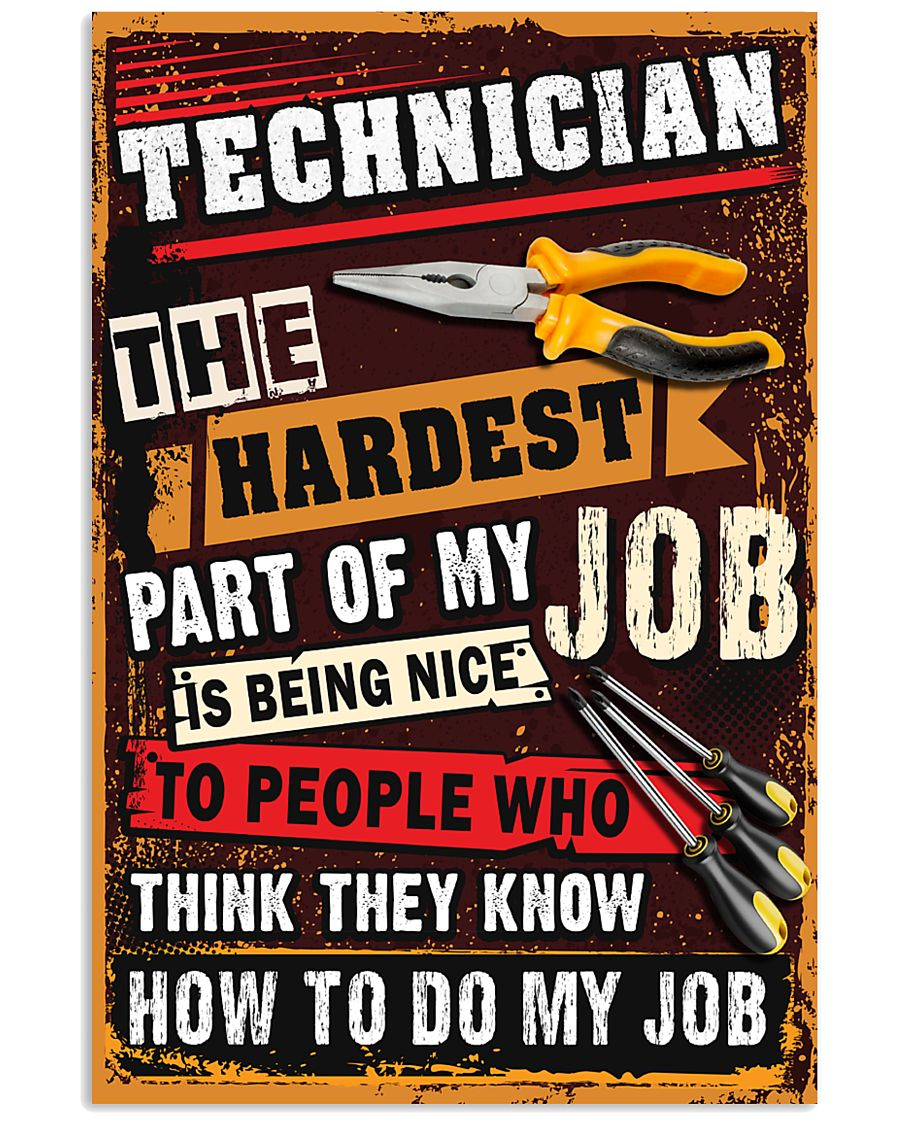Awesome Technician's Canvas and Posters 11x17 Poster