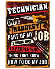 Awesome Technician's Canvas and Posters 11x17 Poster front
