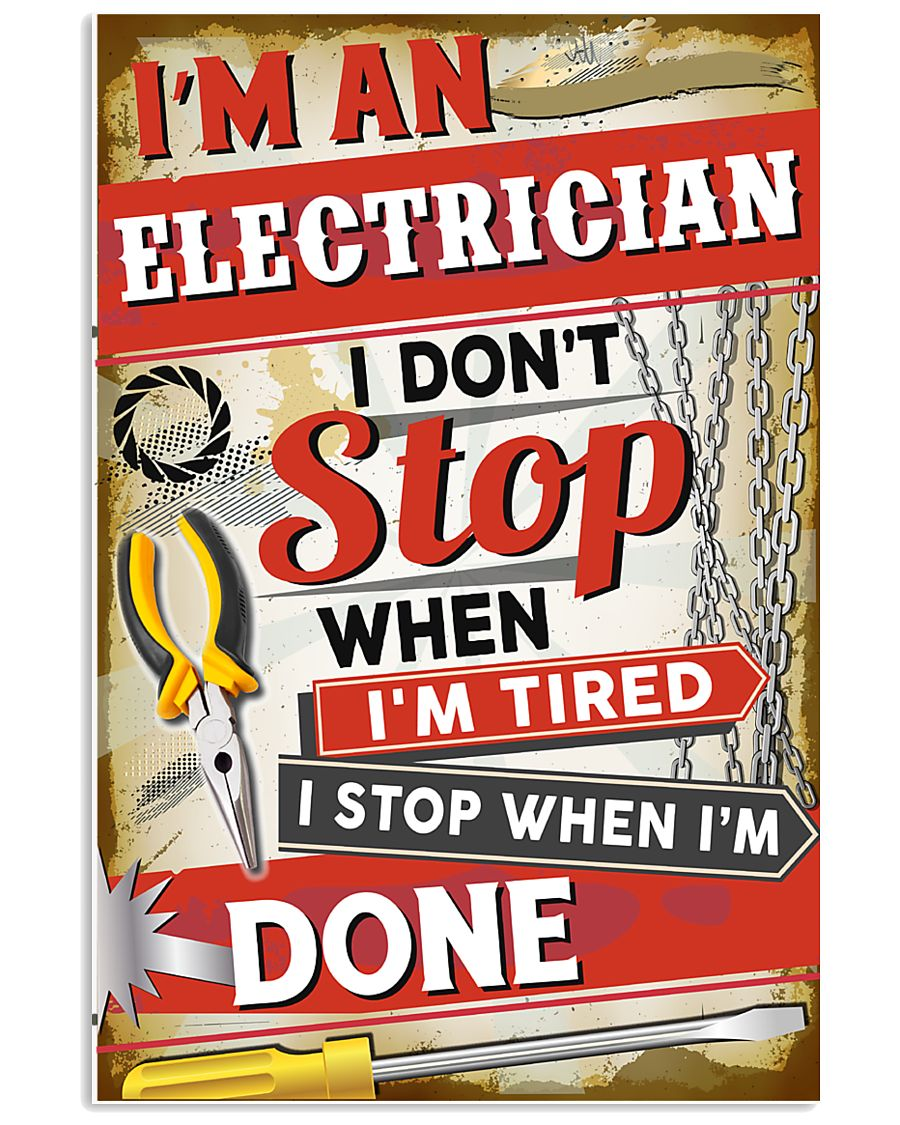 Awesome Electrician 11x17 Poster