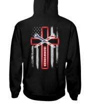 American Flag With Cross Ironworker Hooded Sweatshirt thumbnail