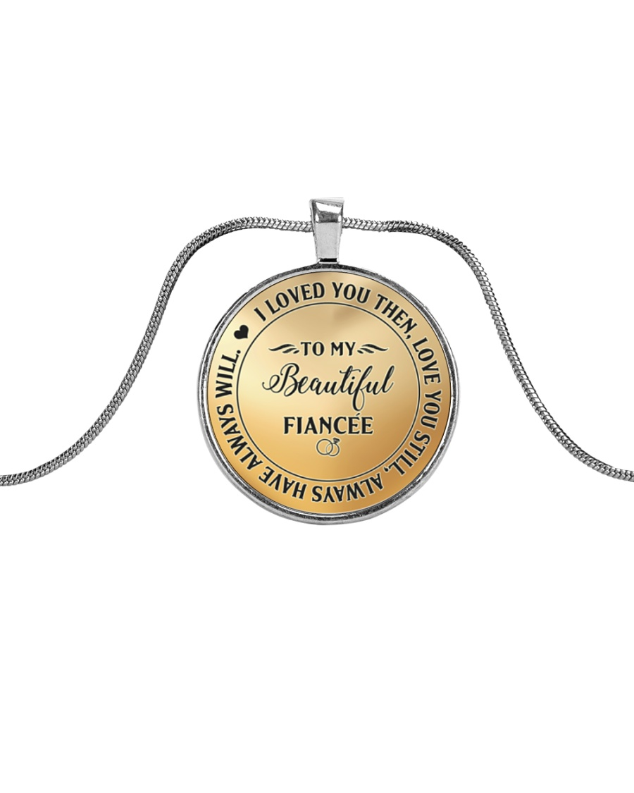 Cute Fiancee  Metallic Circle Necklace
