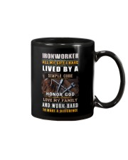 Ironworker Lived By A Simple Code Mug thumbnail