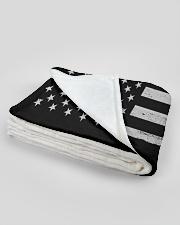 "Lineman USA Flag Large Fleece Blanket - 60"" x 80"" aos-coral-fleece-blanket-60x80-lifestyle-front-09B"