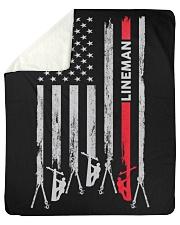 "Lineman USA Flag Sherpa Fleece Blanket - 50"" x 60"" thumbnail"