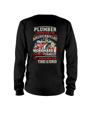 Plumber I Work Hard And Kneel For The Lord Long Sleeve Tee thumbnail