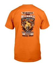 Warning Twisted Mind Mechanic Classic T-Shirt back
