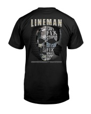 Sarcastic Lineman Shirt Premium Fit Mens Tee tile