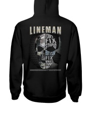 Sarcastic Lineman Shirt Hooded Sweatshirt tile