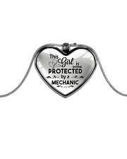 Cute Mechanic's Lady Metallic Heart Necklace front