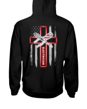 American Flag With Cross Electrician Hooded Sweatshirt thumbnail