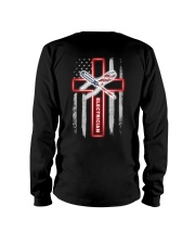 American Flag With Cross Electrician Long Sleeve Tee thumbnail