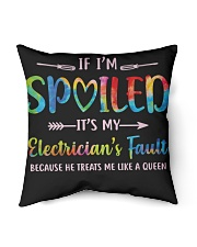 """Electrician's Fault Indoor Pillow - 16"""" x 16"""" back"""