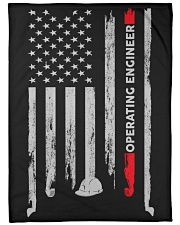 "Operating Engineer USA Flag Large Fleece Blanket - 60"" x 80"" front"