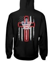 American Flag With Cross Bartender Hooded Sweatshirt thumbnail