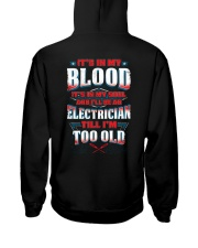 Awesome Electrician Hoodie Hooded Sweatshirt back