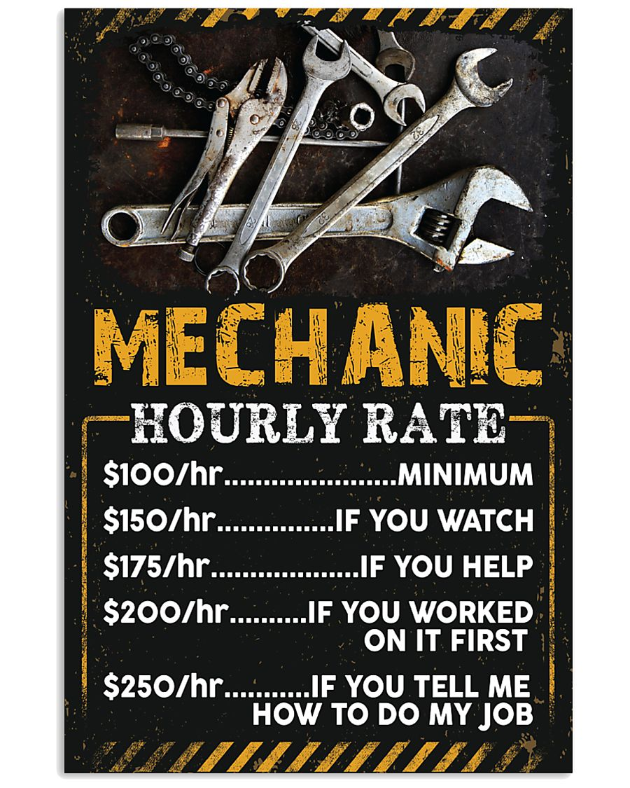 Awesome Mechanic's Canvas and Posters 11x17 Poster