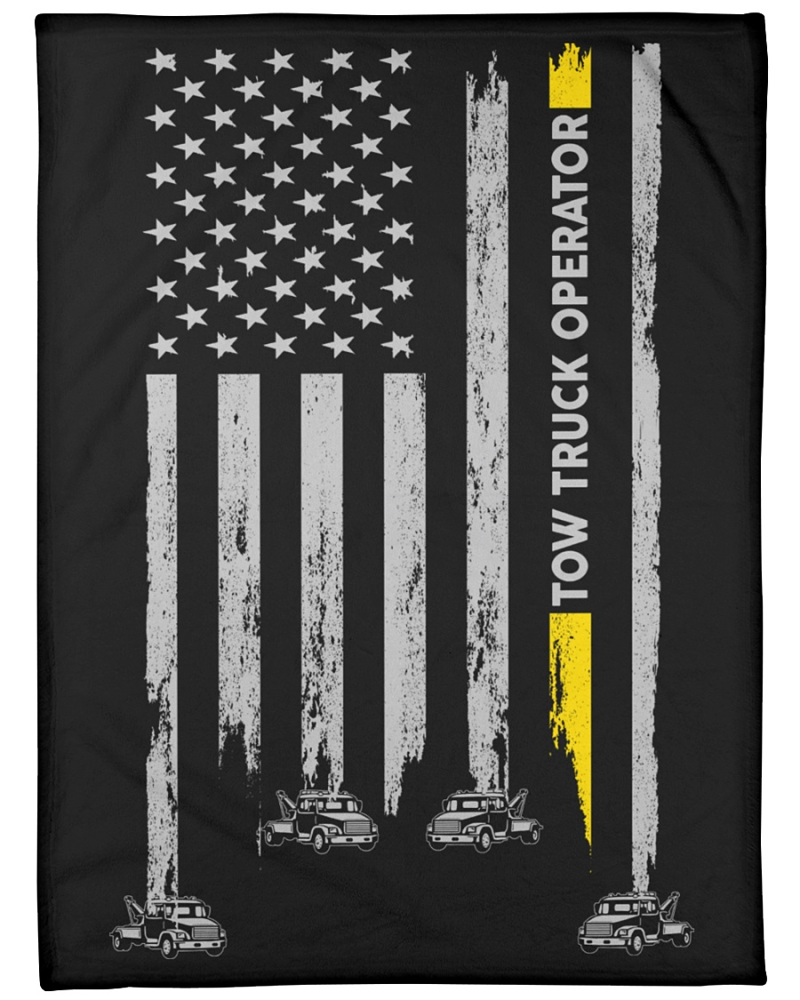 "Tow Truck Operator USA Flag Large Fleece Blanket - 60"" x 80"""