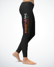 Cute Lineman's Lady Leggings Ladies Leggings lifestyle-leggings-right-1