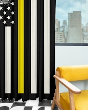 Tow Truck Operator USA Flag Window Curtain - Blackout aos-window-curtains-blackout-50x84-lifestyle-front-03
