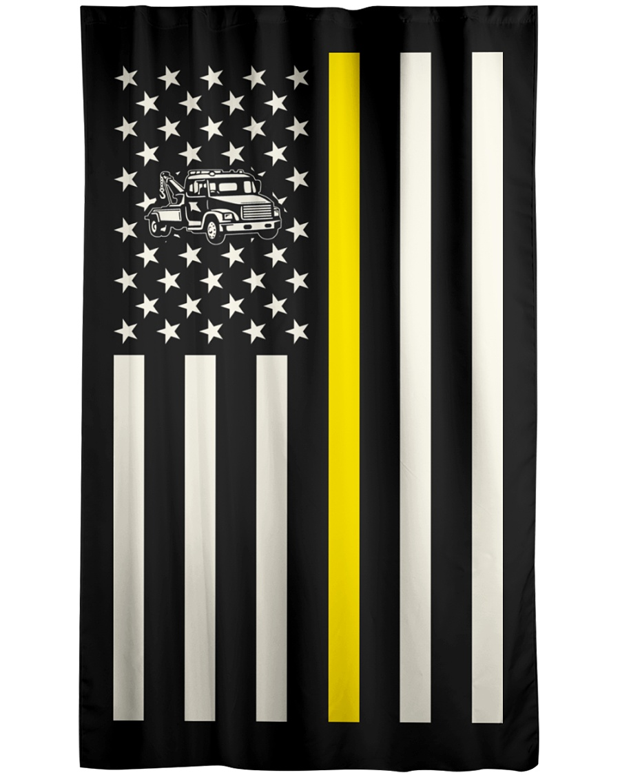 Tow Truck Operator USA Flag Window Curtain - Blackout