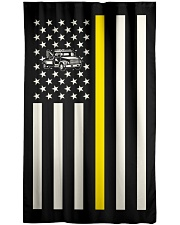 Tow Truck Operator USA Flag Window Curtain - Blackout front