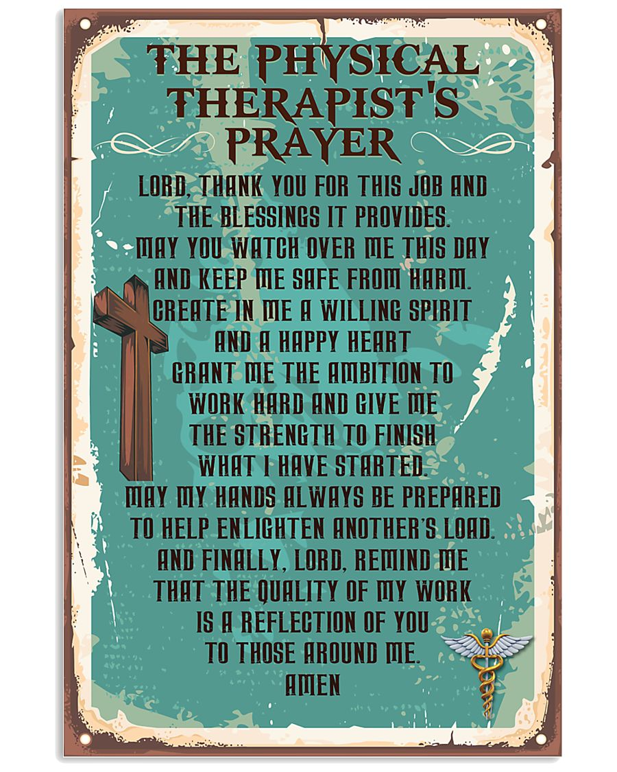 Physical Therapist Prayer 11x17 Poster