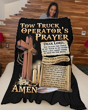 "Tow Truck Operator's Prayer Large Fleece Blanket - 60"" x 80"" aos-coral-fleece-blanket-60x80-lifestyle-front-04"
