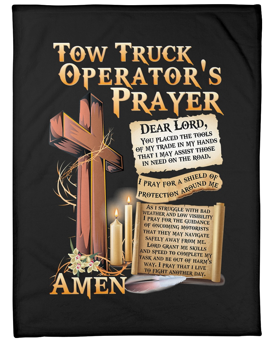 "Tow Truck Operator's Prayer Large Fleece Blanket - 60"" x 80"""