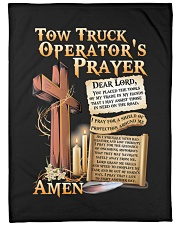 "Tow Truck Operator's Prayer Large Fleece Blanket - 60"" x 80"" front"