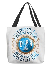 I Became a Childcare Provider All-over Tote back