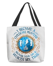 I Became a Childcare Provider All-over Tote front