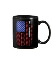 American Flag Plumber Tool Pattern Mug thumbnail