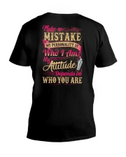 Bartender- My Attitude Depends On Who You Are V-Neck T-Shirt thumbnail