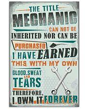 Proud Mechanic 11x17 Poster front
