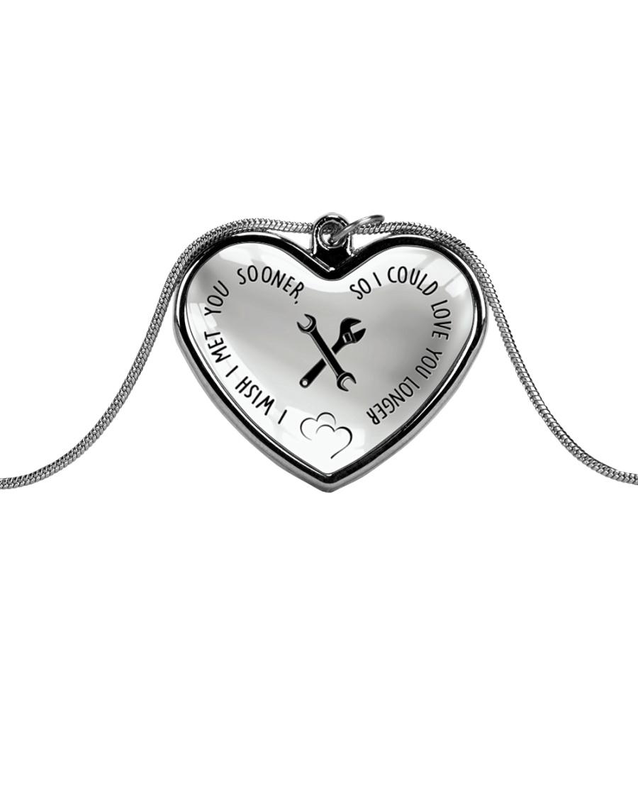 Cute Mechanic's Lady Metallic Heart Necklace